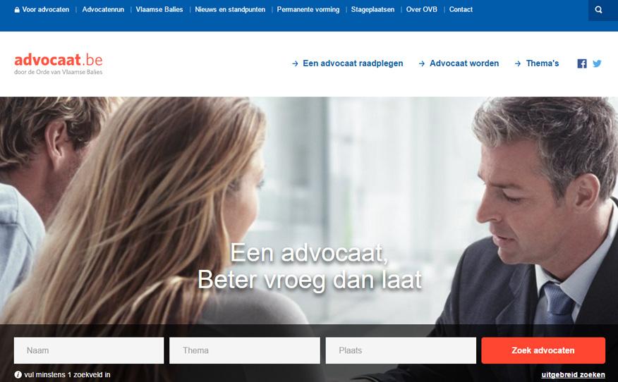 Nieuwe advocaat.be